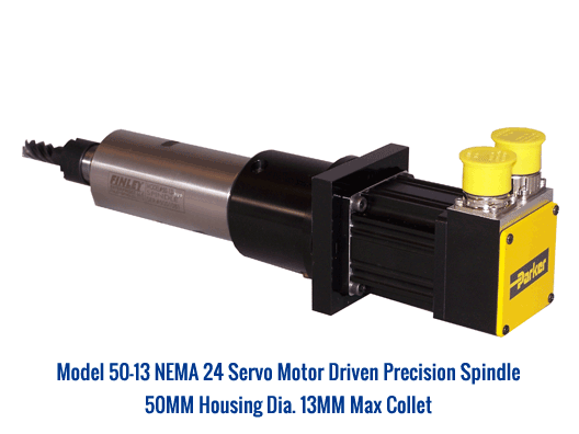 Custom cnc motorized spindles air belt driven tool for Air motors and drives llc